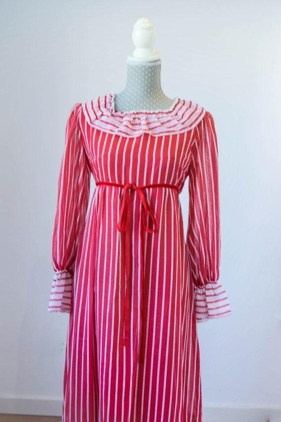 Vintage prairie dress M-L, 70s 80s edwardian prai… - image 5