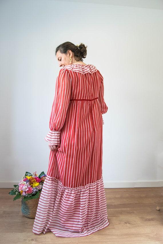 Vintage prairie dress M-L, 70s 80s edwardian prai… - image 3