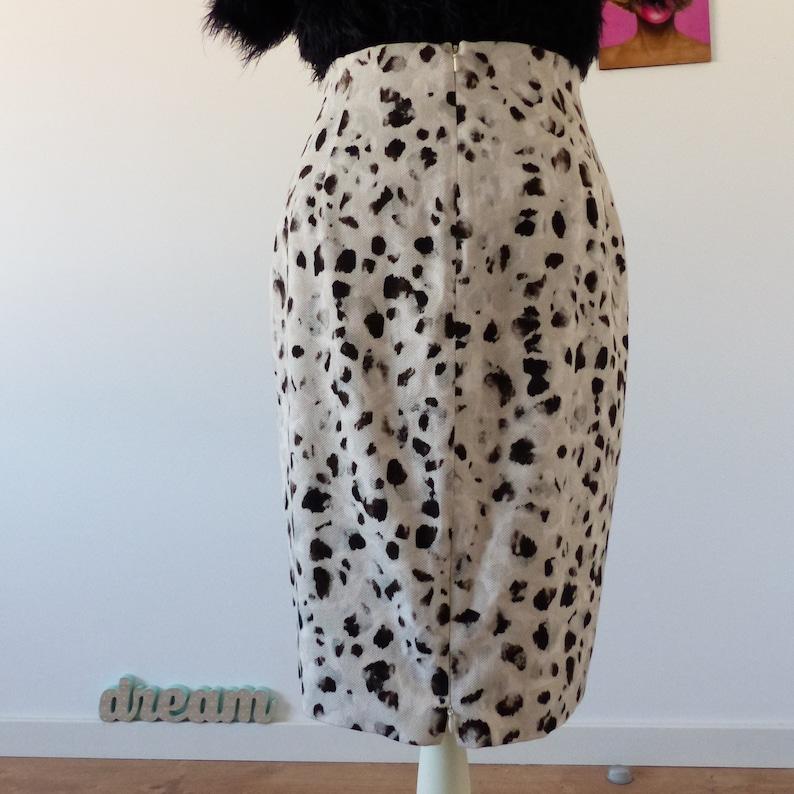 2233230a6 Max Mara animal print skirt gray pencil skirt high waisted   Etsy