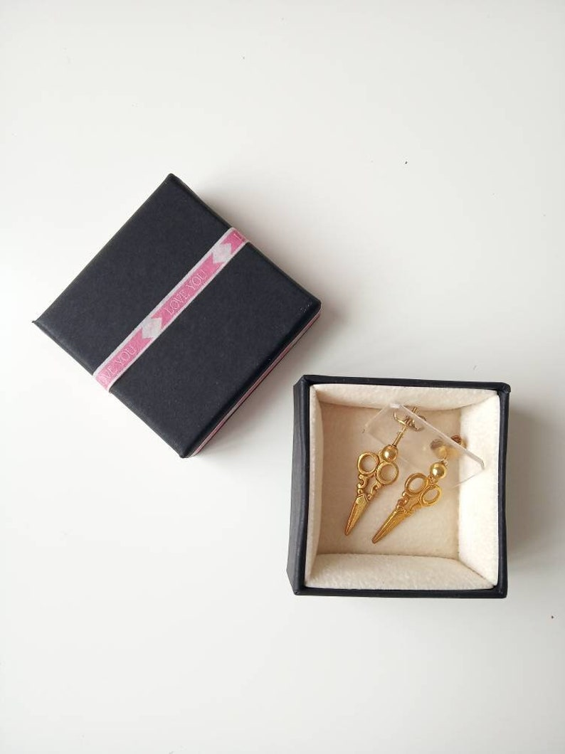small gold drop earrings tiny drop novelty stud earrings. NEW OLD ...