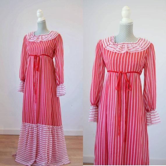 Vintage prairie dress M-L, 70s 80s edwardian prai… - image 6