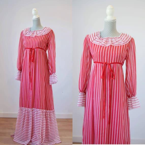 Vintage prairie dress M-L, 70s 80s edwardian prair