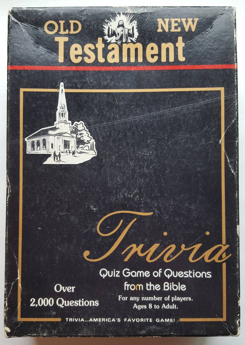 Vintage 1984 Old/New Testament Trivia Quiz Game of Questions