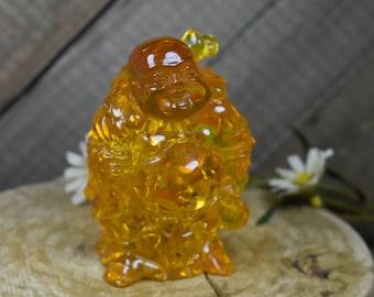Carved Amber Buddha