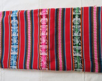 Bolivian Aguayo, Peruvian fabric, fabric Andean 2.50/1, 30 m ethnic weaving