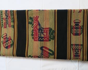 Bolivian Aguayo, Peruvian fabric, fabric Andean 2.58/1 ethnic weaving 28 m