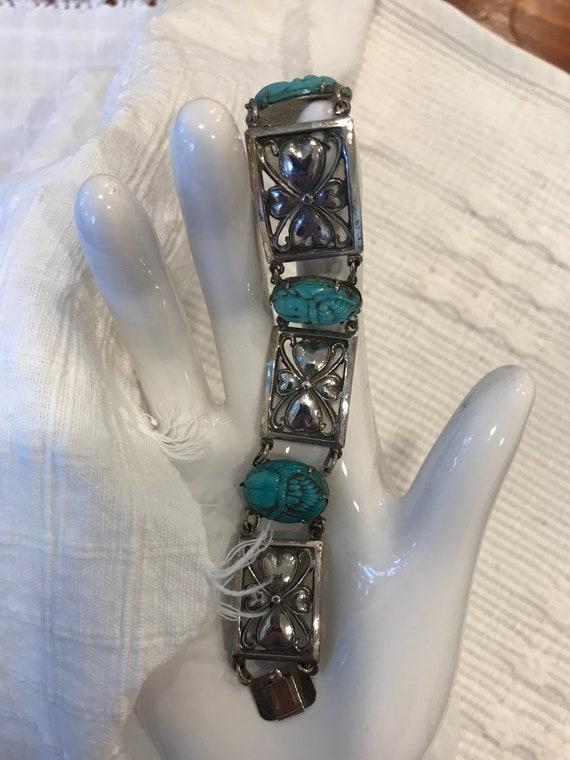 Egyptian Revival Bracelet Scarab