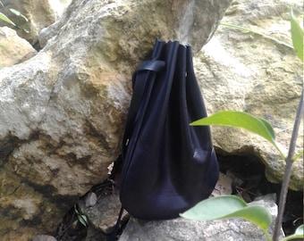 Drawstring Bag, Leather Pouch, Crystal Pouch, Marble Bag, Keepsake Holder, Jewelry Bag, Keepsake, Gift Bag, 5.5 in x 7.5 in., Medicine Bag,