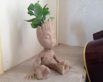 Baby Groot Planter Pot For Succulent or Garden - Paint-able!
