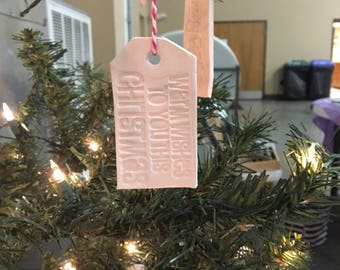 Ceramic ornaments/gift tags