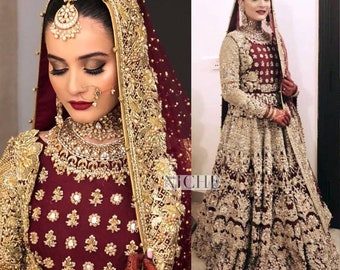 e460e43b45 Bridal Dress, Party wear, Formal Pakistani, Indian 3pc - Made to order