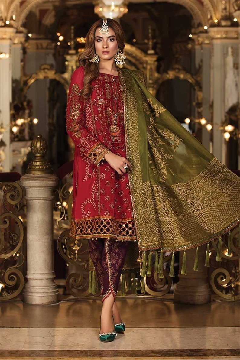 56d6d7900cb Maria B Mbroidered Wedding Collection 2018 Nauratan Party