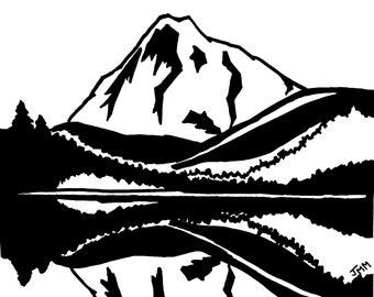 Mt Hood Skiing Etsy