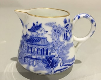 Miniature Spode Copeland Willow Pattern Jug