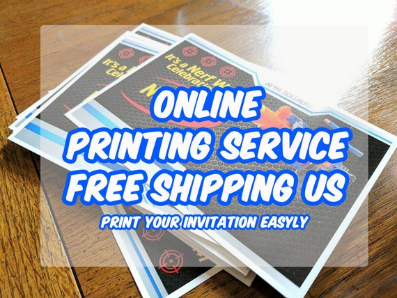 online invitation printing service invitation printing print etsy