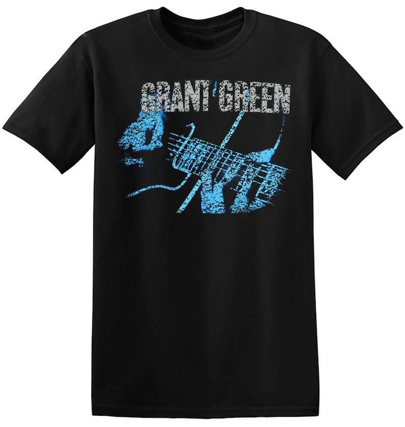 f1339abcbd068d Jazz T Shirt Grant Green Graphic Print New Black Vintage
