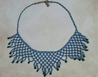Netted Statement Necklace, Gift for her, Ready to ship, ToaBeads