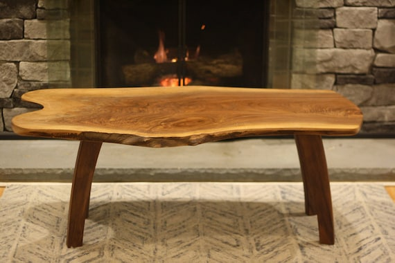 Handmade Wooden Coffee Table Etsy