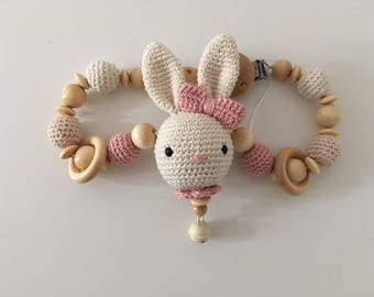 Pram Chain Crochet Amigurumi Bunny