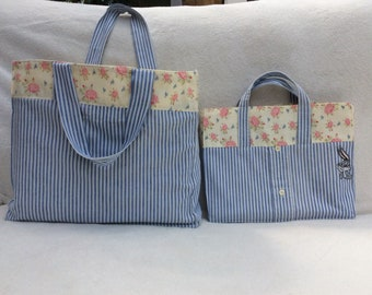 Pair shoppers or beach bags large and small