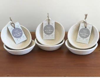 Small cotton rope bowl - jewelery bowl - home decor - 100% cotton - storage - organisation