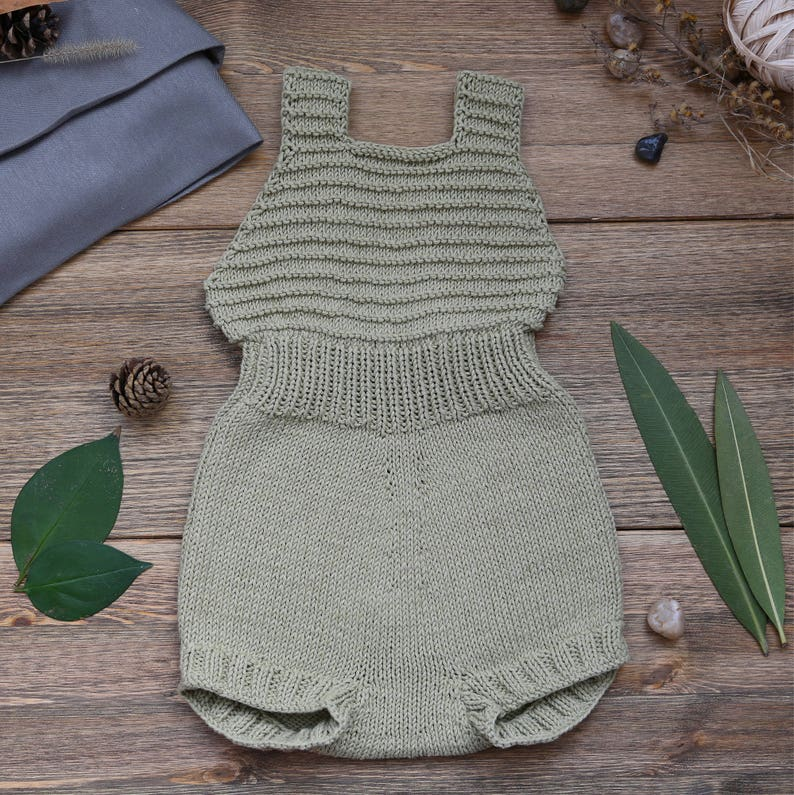 Knit Baby Romper Handmade Baby Knits Baby Clothes Handmade image 0