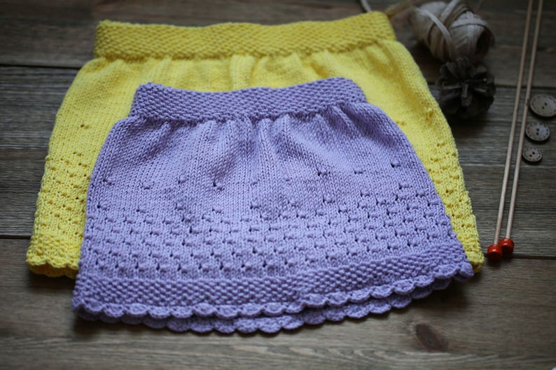 Baby Skirt Lilac Skirt Baby Knits Baby Clothes Cotton image 0