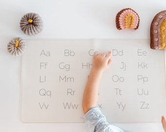 English Alphabet, Learning desk mat, Alphabet Letters, Uppercase Letters, Lowercase Letters, Eco, Educational placemat