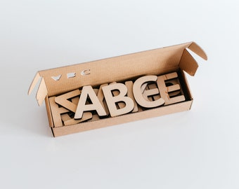 Alphabet letters, Wooden letters, Educational toy, Wood letter, Wood toy, Toddler educational toys, ABC, Wooden English alphabet, Kid Gift