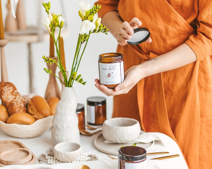 MOON CHILD • Soy Wax Candle, Orange Blossoms, Lemon, Honeysuckle, Hand Poured, Bougie naturelle, Boho