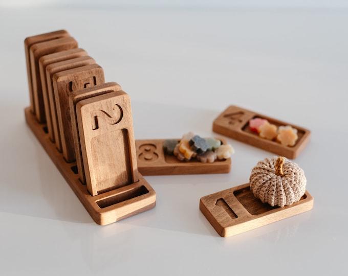 Numbers Wooden Trays Montessori, Learn, Counting, Math, Preschool, Homeschool
