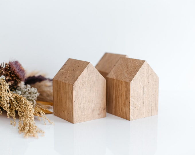 Wooden House, Block House, Baltic Oak Wood,  Wooden House Decor