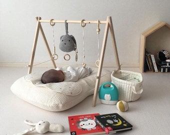 Eco Baby Mobile, Gym Baby Mobile, Toy For Babys & Toddlers, Baby Gym, Play Gym, Baby Shower Gift, Wooden Baby Toy, Wooden Mobile, Birch Wood