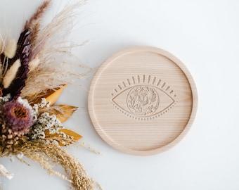 Bohemian Wooden Tray, Baltic Ash Wooden Board, Serving Board, Housewarming