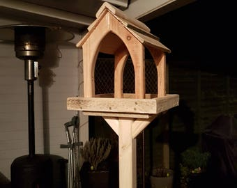 Quality Hand Made Bird Tables From Recycled Materials