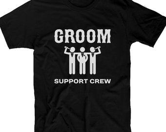99d5c0e8 Stag Tshirt groom support crew Tee stag bestman groomsmen personalised stag  do tshirts statement Tshirt-mens short sleeved Tee-