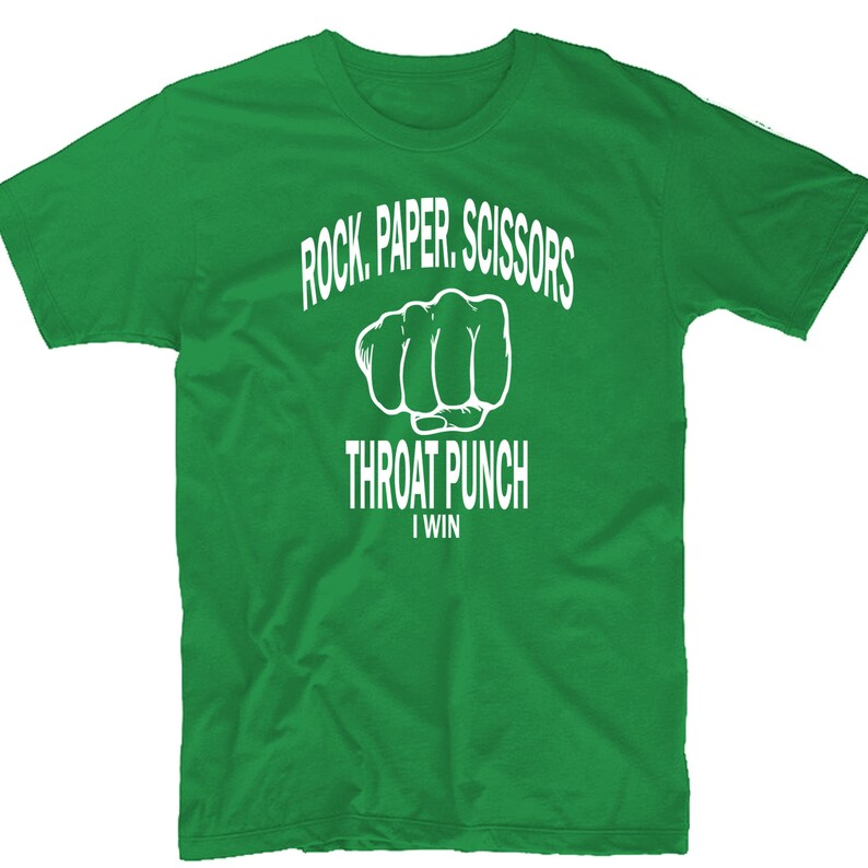 811f0e02f Funny Tshirt rock paper scissors throat punch Tshirt | Etsy