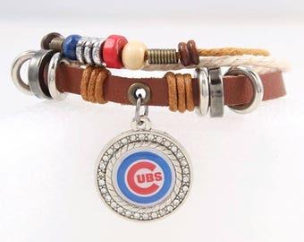Boho style Chicago Cubs Charm Bracelet