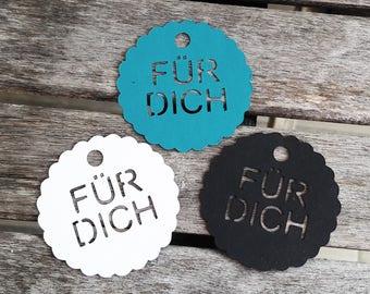"""10 Tags / Geschenkanhänger """"FÜR DICH"""" ANDERE Sprachen möglich"""