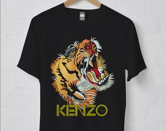 27be97d7ea61 Kenzo Tiger Short-Sleeve Unisex T-Shirt Unisex exclusive Casual Tee Street  Wear
