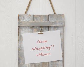 Reclaimed Wood look Memo Board, Rustic Memo Board, Rustic Decor, Farmhouse look - Pick your color