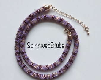 Pearl Necklace Purple-Amethyst