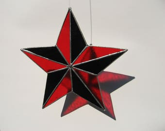 red and black 5 point star
