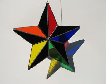 rainbow 5 point star