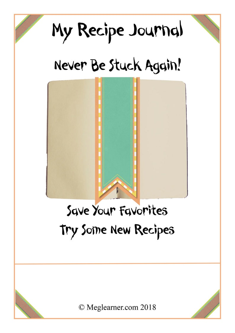 Recipe Journal Food Recipes Journal Keep your own cooking image 1