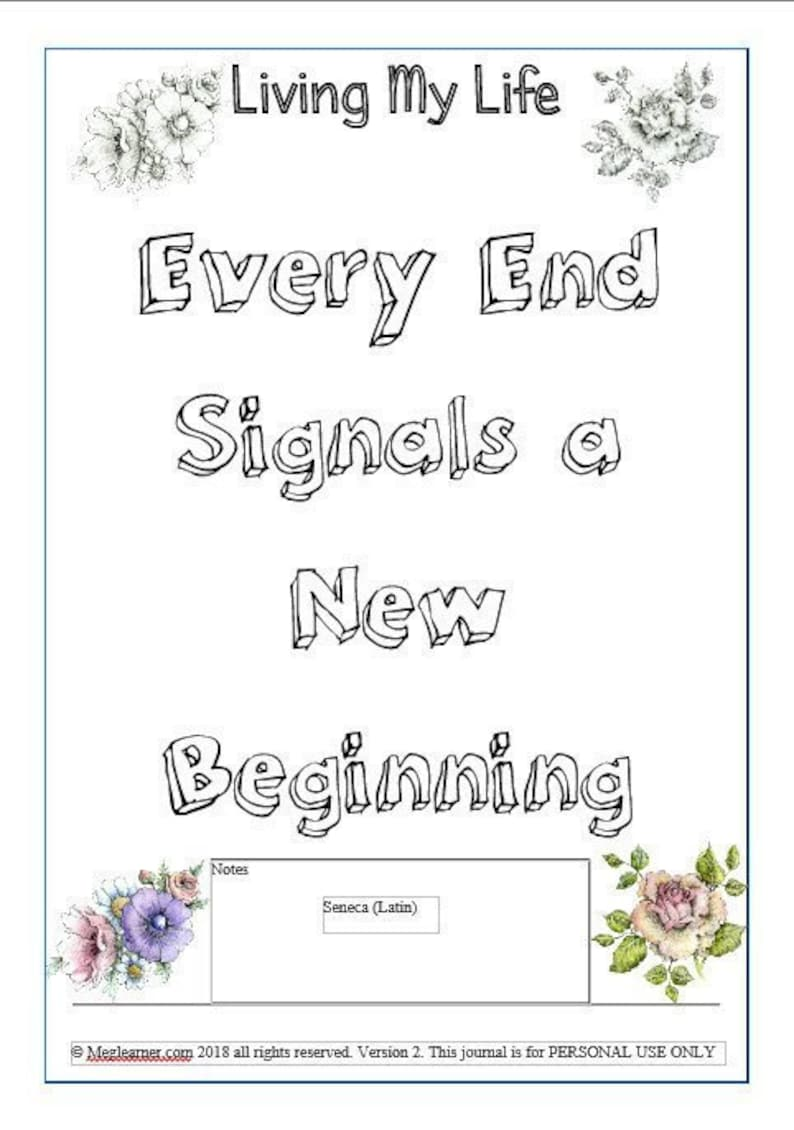 End Of Life Journal Living Will Terminal Illness image 0