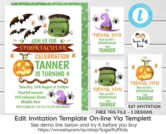 Children S Halloween Party Invitation Halloween Party