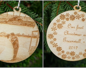 15 Pieces CHRISTMAS ORNAMENT- DOUBLE SIDED round SUBLIMATION