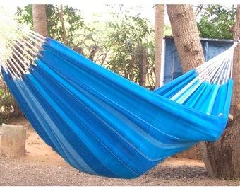 Blue color simple handmade hammock