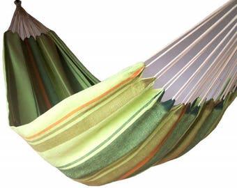 Hamac artisanal simple de couleur vert